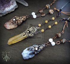 Calcite necklace by EnchantedTokenArt.deviantart.com on @deviantART