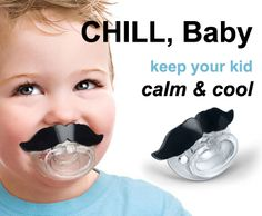Moustache Pacifier.. saw this today and laughed