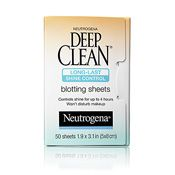 Deep Clean Long-Last Shine Control Blotting Sheets Life/makeup saver for oilyskinned gals like muah!