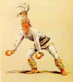 Danza del venado,ritual celebrado por los indios Yaquis y Mayos de los estados de Sonora y Sinaloa,es una dramatización de la caza del venado.Google
