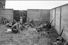 American soldiers of the 101st Airbourne Division relax after the battle for Eindhoven