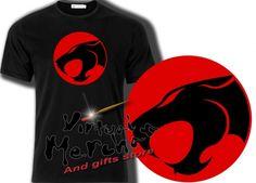 Camiseta Thundercats Tshirt T-Shirt Mujer Niño Xxl Negra Felinos Cosmicos Child…