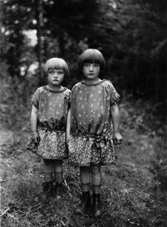 """Sisters"" by August Sander, ca. 1930.  Looks like me and my sister would have around 1964ish.  LOVE"
