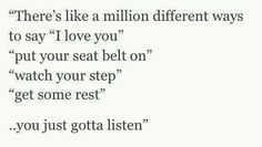"""Million different ways to say """"I love you."""""""