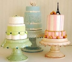 clara french DIY cake stands