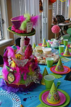 Alice in Wonderland Birthday Party Centerpiece