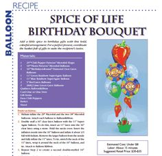 Spice Of Life Birthday Bouquet