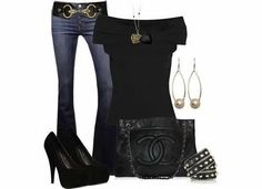 Outfit for summer fashion night life! Mode Outfits, Fall Outfits, Casual Outfits, Fashion Outfits, Womens Fashion, Fashion Trends, Fashion Ideas, Black Outfits, Casual Wear