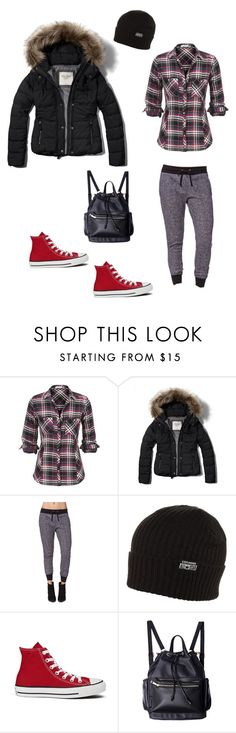"""""""Untitled #245"""" by leftyrussel ❤ liked on Polyvore featuring Abercrombie & Fitch, LA: Hearts and Converse"""