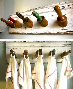 Coole Bastelideen DIY bastelideen alte küchenkrams nudelholz1