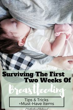 Breastfeeding - here's what they don't tell you in the hospital... Whether you're struggling to breastfeed, preparing for when baby arrives, or somewhere in-between, these tips on how to survive the first two weeks of breastfeeding will provide you with some good resources for your breastfeeding experience.