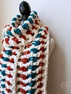 Super Sweet 2 Hour Super Scarf - Oombawka Design 1