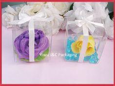 Gratis verzending hot 5x5 duidelijk pvc verjaardag gift box bruiloft gunst dozen chocolade dozen snoep in van op Aliexpress.com