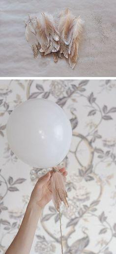 Feathers on Balloon