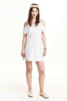 Off-the-shoulder jurk   H&M