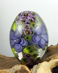 Glassactcc Lavender Flower Windows Handmade Lampwork Focal Glass Bead SRA | eBay
