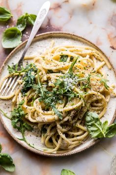 Cacio e Pepe with Arugula and Lemon #pasta #easy #recipes