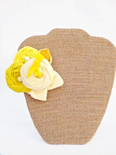 Yellow Ombre Rosette Flower Fascinator by StunningByDesign