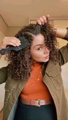 Mixed Curly Hair, Short Wavy Hair, Curly Hair Styles Easy, Curly Hair Tips, 3c Natural Hair, Natural Hair Styles, Curly Hair Problems, Stylish Hair, Grunge Hair