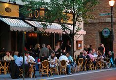 Rouge on Rittenhouse Square - 205 S. 18th.  Dined alfresco here on a hotelier's dime and it was sensational.  Two bottles of wine, three course meal, and perfect weather.  Great experience.
