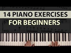 14 Easy Piano Exercises for Beginners: Improve Your Technique! Piano Songs For Beginners, Learn Piano Beginner, Beginner Piano Music, Piano Lessons For Beginners, Music Theory Piano, Piano Music Easy, Piano Music Notes, Piano Chord, Sheet Music