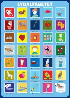 Dyspraksiforeningen har opdateret lydalfabetet med 4 nye ikoner: /k, n, ŋ, ɐ/. Den nye plakat ser således ud: School Fun, Primary School, Speak Danish, Danish Language, Speech Therapy, Denmark, Literacy, Alphabet, Homeschool