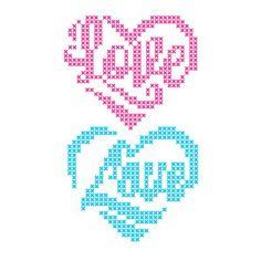 Graph Paper Drawings, Graph Paper Art, Fuse Bead Patterns, Heart Patterns, Wedding Cross Stitch Patterns, Cross Stitch Designs, Cross Stitch Heart, Modern Cross Stitch, Cross Stitching