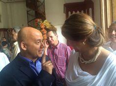 Con Diego Montoya alcalde saliente de Titiribí