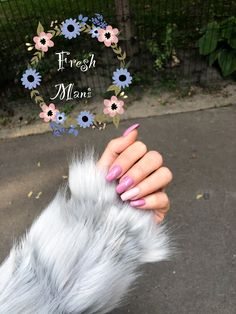 Pink mani fresh nail nail photo ideas photography fur grey color autumn winter nail manicure long nails Nail Manicure, Gel Nails, Nail Photos, Nails On Fleek, Winter Nails, Nail Tech, Swag Nails, Coffin Nails, Gel Polish