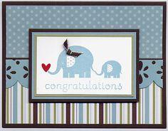 Baby Steps Baby Boy card by Julie Bug - Cards and Paper Crafts at Splitcoaststampers