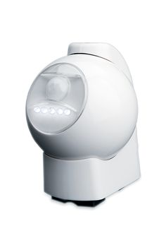 Battery-Powered Motion-Activated LED Outdoor Light has 5 bright LEDs that automatically turn on when motion is detected in the area. Light head swivels 360°. Unit is weather resistant; perfect indoors and outdoors. Includes mounting bracket. Requires 4 C-cell batteries (not included).