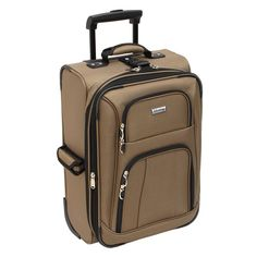 I'm learning all about Leisure Luggage, Inc. Advantage 21in Lightweight Upright Taupe - LEISURE LUGGAGE, INC. at @Influenster!