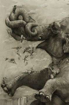 Adonna Khare...this is like a mural, done in pencil...amazing!