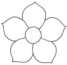 illustration of a flower and a pot sketch on a white background - Ariana Applique Patterns, Beading Patterns, Flower Patterns, Quilt Patterns, Quilting Templates, Paper Flowers Diy, Felt Flowers, Felt Crafts, Paper Crafts