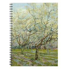 White Orchard by Vincent Van Gogh Spiral Notebook