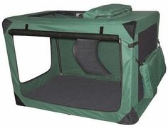 Generation II Deluxe Portable Soft Dog Crate in Moss Green  Large -- Want additional info? Click on the image. This is an Amazon Affiliate links.