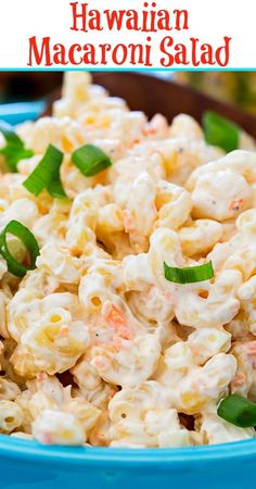 Macaroni salad dishes to vary your meal. And here are 18 best macaroni salad recipes that you need and pleasure all member in your family. Hawaiian Macaroni Salad, Hawaiian Pasta Salads, Hawaiian Salad, Macaroni Pasta Salad, Hawaiian Dishes, Hawaiian Recipes, Hawaiian Plate Lunch, Southern Kitchens, Pasta Salad Recipes