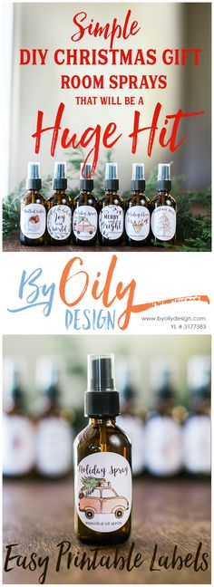 Check out these adorable DIY Christmas gifts room sprays with Essential Oils. The Free printable Christmas gift labels. I can't wait to give these as DIY Christmas gifts for teachers. sign up for wholesale membership and get your essential oils with By Oily Design. DIY Christmas gifts under $5; DIY Christmas gifts for family; DIY Christmas gifts for the office; Christmas room scents; Christmas room sprays; Natural Christmas tree room sprays; Dirty Santa gifts; Christmas gifts under $20; Free…