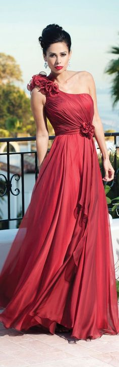 @roressclothes clothing ideas   #women fashion red maxi dress Kathy Ireland 2013