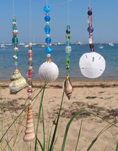 Trendy craft projects with shells wind chimes ideas Beach Crafts, Summer Crafts, Fun Crafts, Arts And Crafts, Seashell Crafts Kids, Summer Diy, Style Summer, Wood Crafts, Seashell Art