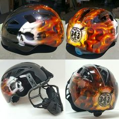 21 Best Airbrushing Catchers Helmets Images Catcher Hard Hats