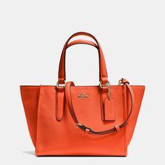 Crosby Mini Carryall in Crossgrain Leather #cheap #coach #handbags