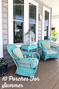 Front Porch decorating coastal beach porch