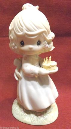 1990  Precious Moments Figurine Enesco May Your Birthday be a Blessing  #524301