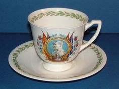 1937 Royal Doulton Cup & Saucer for the Coronation of King George VI King's Speech