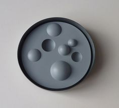 Therese Hilbert. Brooch: Hot Spot, 2009. Blackened, varnished silver