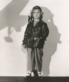 "Shirley Temple in publicity photo from the film, ""Bright Eyes."" See photos and this original outfit in countrywide exhibits before being auctioned by Theriault's on July 14, 2015. http://www.theriaults.com"