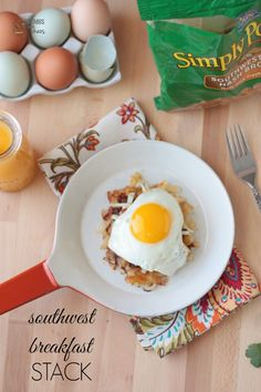 Southwest Breakfast Stacks | Crumbs and Chaos