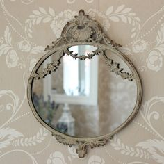 Oval Swag Decor Wall Mirror