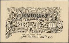 Mme Demorest's Cosmopolitan Emporium of Fashions, the representative pattern establishment [front] by Boston Public Library, via Flickr